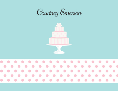 Wedding Cake Notecard - The Stationery Studio